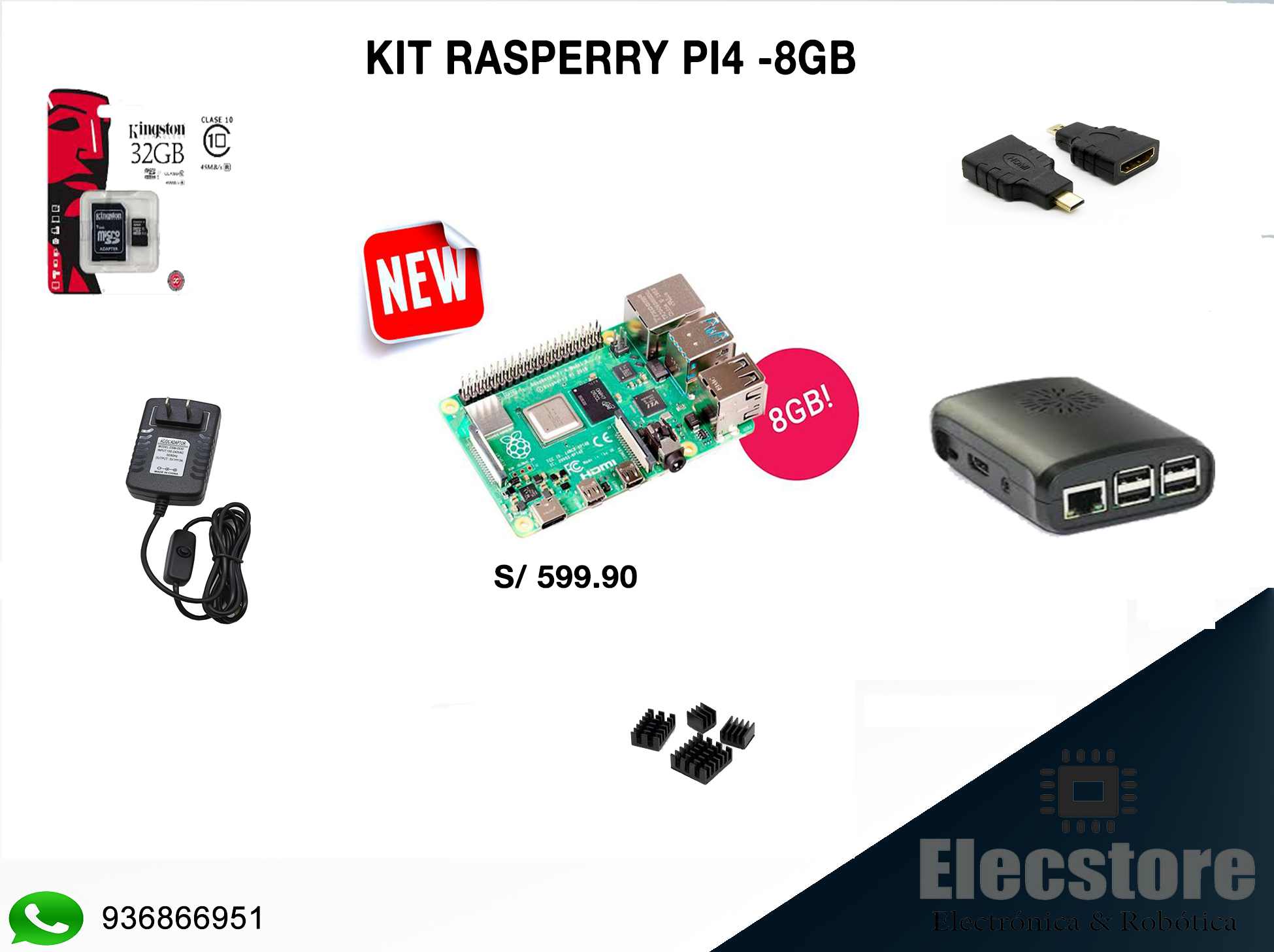 KIT RASPBERRY PI4 DE 8GB