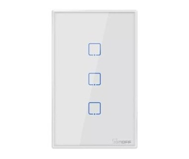 Sonoff T2 Interruptor 3 Gang Smart Wifi Panel Táctil Por Voz