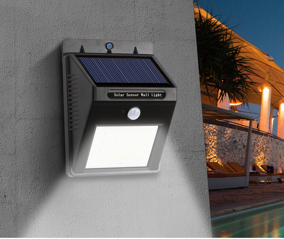 Oferta!!!! Foco Led Luz Panel Solar Sensor Movimiento 2a Gen