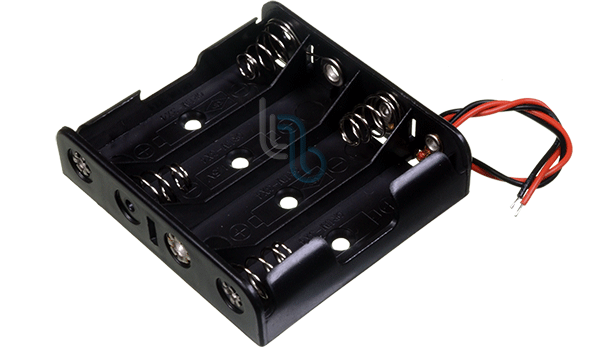 Battery Holder for 4AA Battery - w/Wires